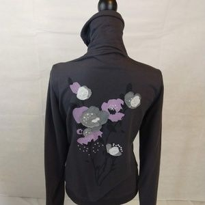 Cynthia Rowley Jacket Gray - Large Jr. Embroidery